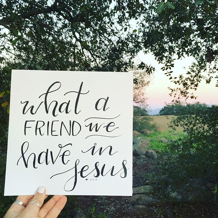 """""""What a friend we have in Jesus, All our sins and griefs to bear!…"""