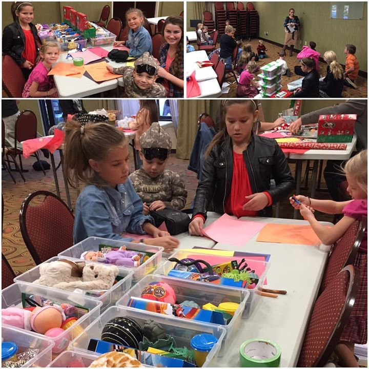 Several families in our church gathered together to pack boxes for Operation Christmas Child…